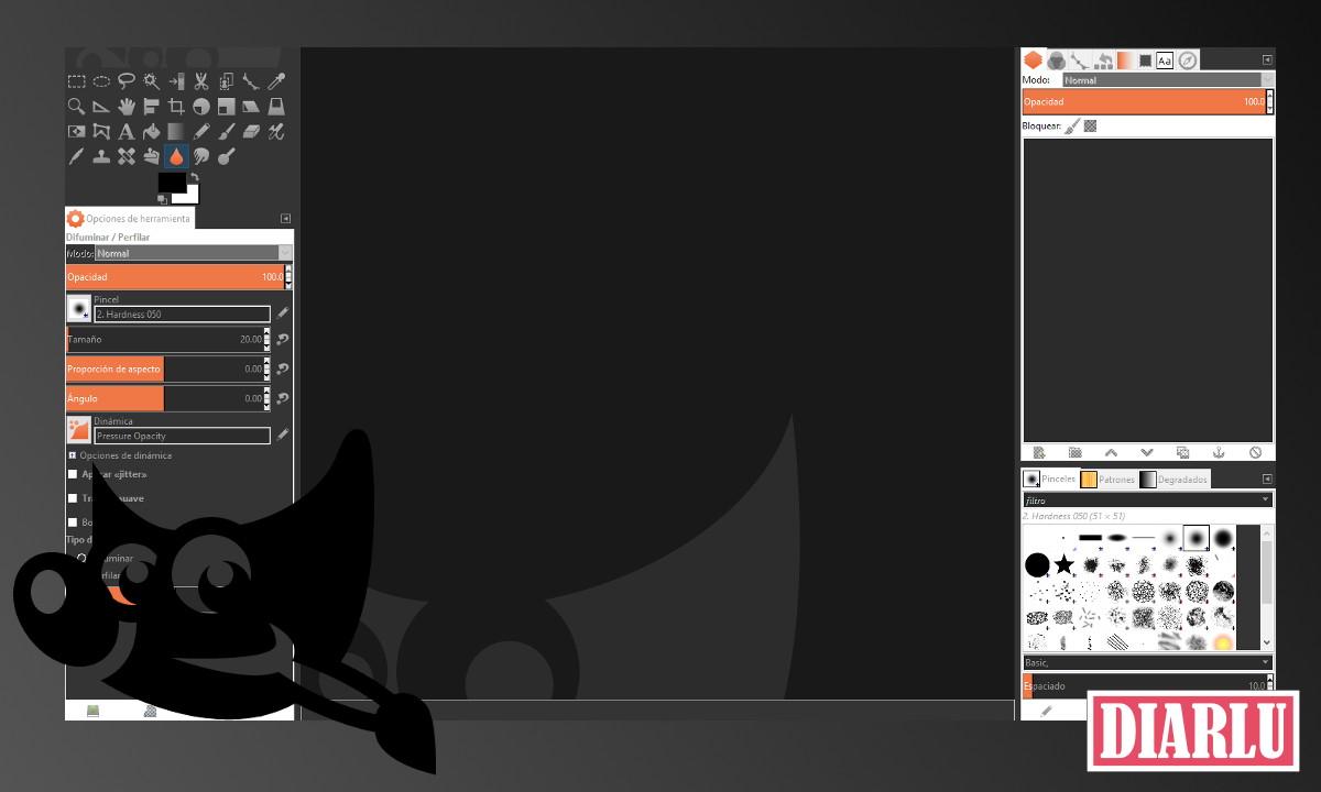 Tema Oscuro GIMP